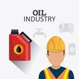 Infographic industric del petróleo y del aceite Imagen de archivo