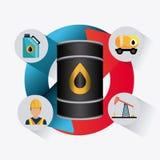 Infographic industric dell'olio e del petrolio Fotografie Stock