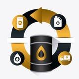 Infographic industric dell'olio e del petrolio Fotografia Stock Libera da Diritti