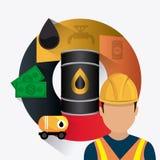 Infographic industric dell'olio e del petrolio Fotografie Stock Libere da Diritti