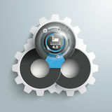 Infographic Industrie 4 Gears Royalty Free Stock Photography
