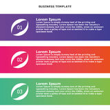 Infographic information business banner. For business projects Stock Photos