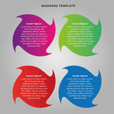 Infographic information shapes for business. Infographic information shapes for any business projects Royalty Free Stock Images