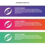 Infographic-Informationsgeschäftfahne Stockfotos