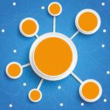 Infographic Internet Networks Circles Blue Sky Stock Images