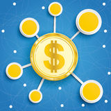 Infographic Internet Networks Circles Blue Sky Dollar Stock Photos