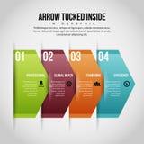 Infographic interno dobrado seta Foto de Stock Royalty Free