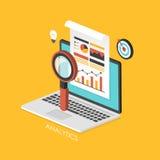 Infographic isométrico del concepto 3d del negocio Foto de archivo