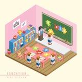 Infographic isométrico do conceito 3d da educação Fotografia de Stock