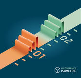 Infographic isometric graph / can be used for infographics Royalty Free Stock Photo