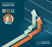 Infographic isometric graph / can be used for infographics Stock Photography