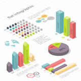 Infographic isometrico piano 3d per le vostre presentazioni di affari Fotografie Stock