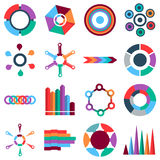 Infographic items icons set, flat style. Infographic items icons set. Flat illustration of 16 Infographic items vector icons for web Royalty Free Stock Photography