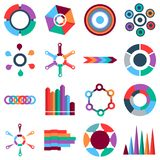 Infographic items icons set, flat style. Infographic items icons set. Flat illustration of 16 Infographic items icons for web vector illustration