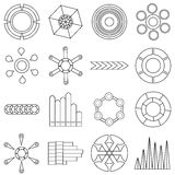 Infographic items icons set, outline style. Infographic items icons set. Outline illustration of 16 Infographic items vector icons for web Royalty Free Stock Image