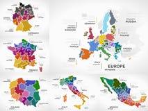 Infographic kaarten stock illustratie