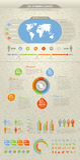 infographic kalla element vektor illustrationer