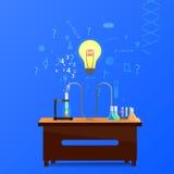 Infographic kemikalie stock illustrationer