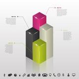 Infographic Kolumny dane dla biznesu wektor ilustracja wektor