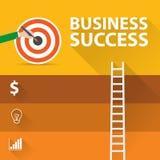 Infographic Konzept der flachen modernen Vektor-Illustration des Designs der digitalen Marketing-Werbekonzeption, Erfolg stock abbildung