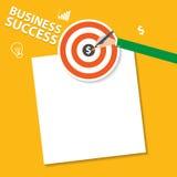 Infographic Konzept der flachen modernen Vektor-Illustration des Designs der digitalen Marketing-Werbekonzeption, Erfolg Stockfotos