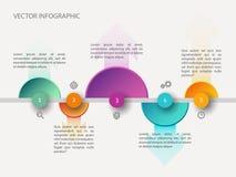 Infographic Konzept der Zeitachse Stockfotografie