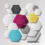 Infographic Konzept des geometrischen Hexagons Lizenzfreies Stockbild