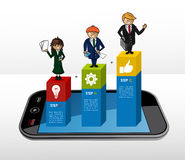 Infographic Konzept des Geschäfts Lizenzfreie Stockbilder