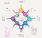 Infographic Konzept des Kreises Stockfotos