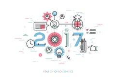 Infographic-Konzept 2017-jährig von den Gelegenheiten vektor abbildung