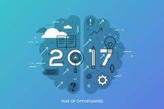 Infographic-Konzept 2017-jährig von den Gelegenheiten lizenzfreie abbildung