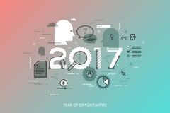 Infographic-Konzept 2017-jährig von den Gelegenheiten stock abbildung