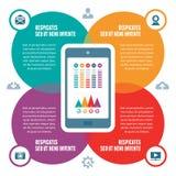 Infographic-Konzept - Vektor-Entwurf mit Ikonen Lizenzfreies Stockbild