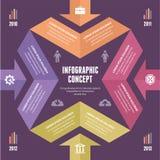 Infographic-Konzept - Vektor-Entwurf mit Ikonen Lizenzfreies Stockfoto