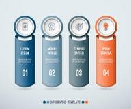 Infographic-Konzept von 4 vertikalen Elementen stock abbildung