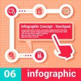 Infographic-Konzeptberührungsfläche Lizenzfreie Stockfotos