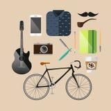 Infographic Konzepthintergrund des Weinlese-Hippies Stockbilder
