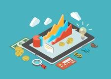 Infographic Konzeptvektor des flachen isometrischen Geschäfts 3d Stockfotos