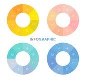 Infographic-Kreis, Vektorkreis mit Alphabeten nach innen lizenzfreie abbildung