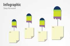 Infographic krok naprzód Obraz Stock