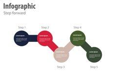 Infographic krok naprzód Zdjęcia Royalty Free