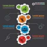Infographic kugghjul Royaltyfri Foto