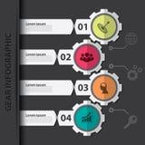 Infographic kugghjul Fotografering för Bildbyråer