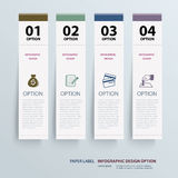 Infographic label tab template vector illustration