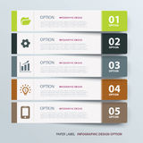 Infographic label tab template Royalty Free Stock Photography