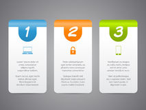 Infographic labels with cool icons and numbers Stock Photo