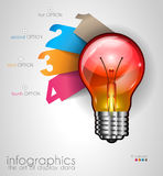 Infographic Layout for Brainstorming Concept background with graphs sketches Royalty Free Stock Image