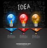 Infographic Layout for Brainstorming Concept background with graphs sketches Stock Photos