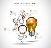 Infographic Layout for Brainstorming Concept background with graphs sketches Royalty Free Stock Photos