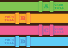 Infographic layout design with horizontal colorful strips Stock Photo